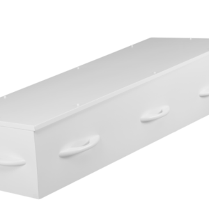 Witte kist van karton