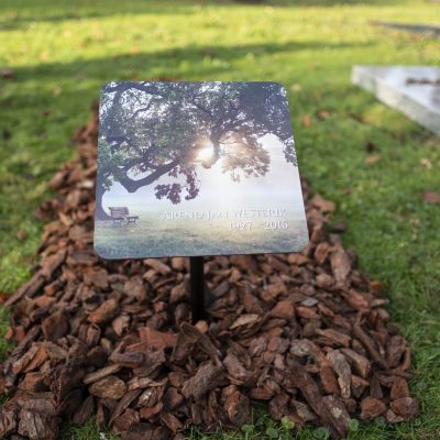 Tijdelijke grafmarkeerder